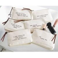 Sassy Quotes Canvas leather zipper pull cosmetic bag