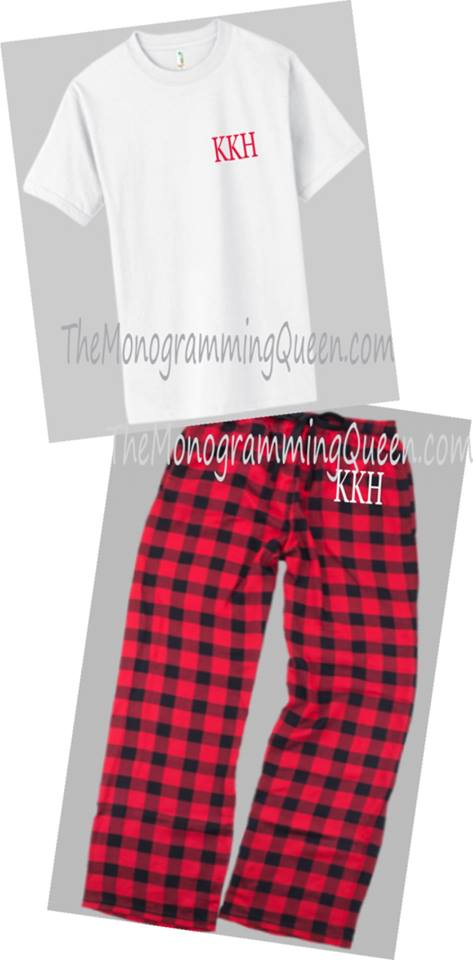 Monogram Mens and Youth Buffalo Check Lounge Pants Pajama Pants