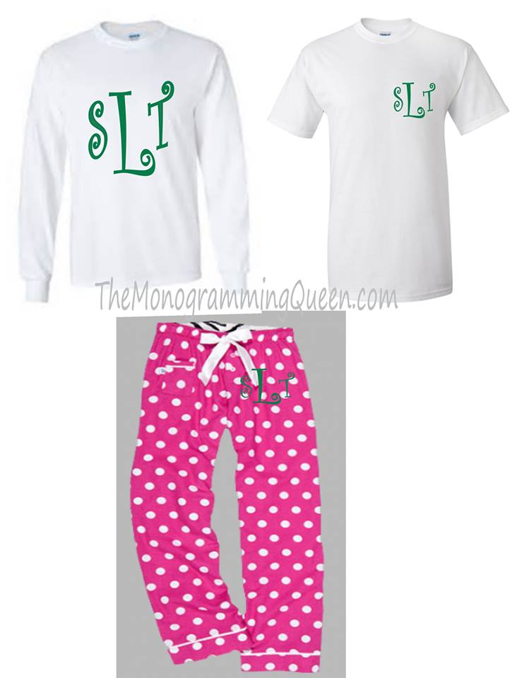 Monogram Hot Pink Dot Pajama lounge pants