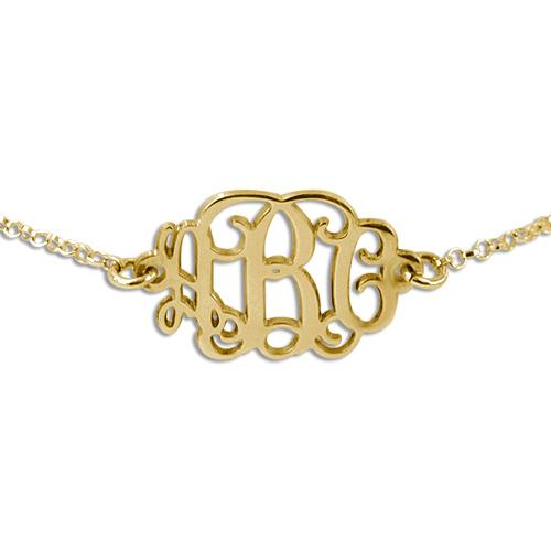 Monogram Gold Bracelet