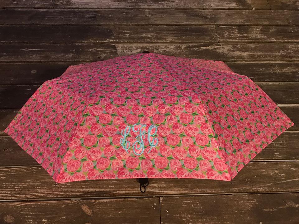 Monogram Lilly Pulitzer Inspired Umbrella