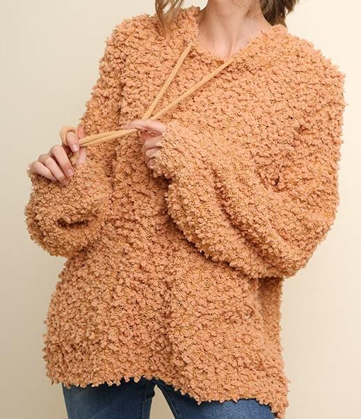 Boutique Popcorn fuzzy hoodie