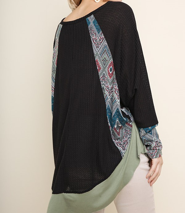 Boutique Scarf Print long sleeve