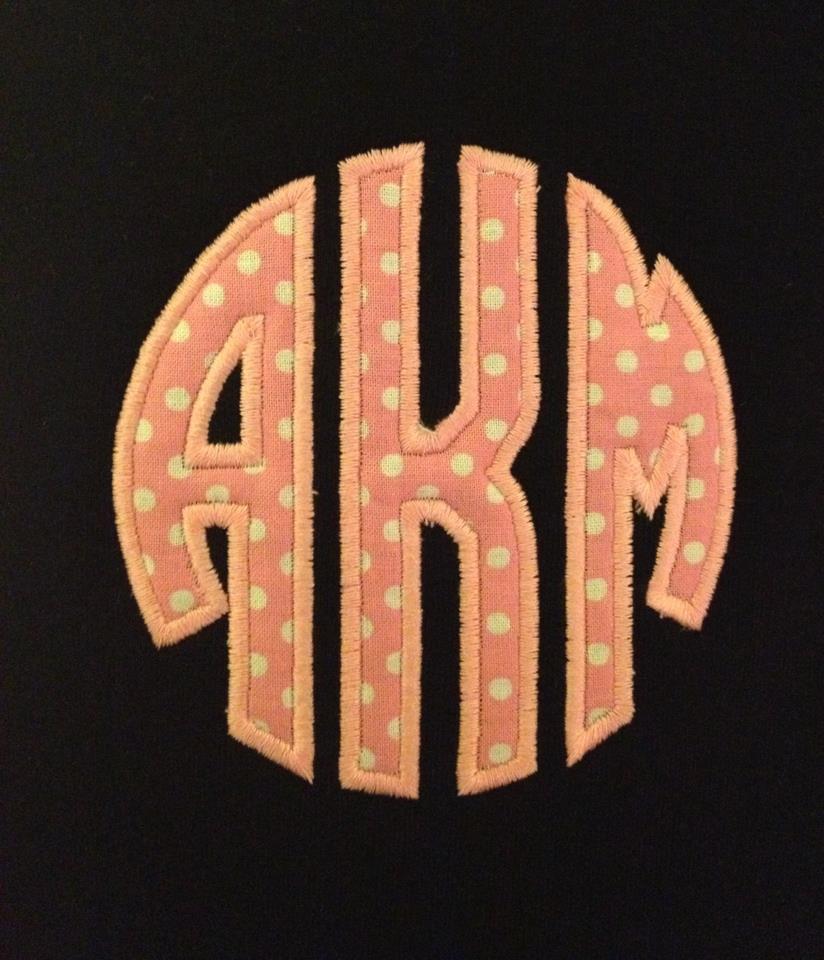 Black Sweatshirt with Applique Mongram
