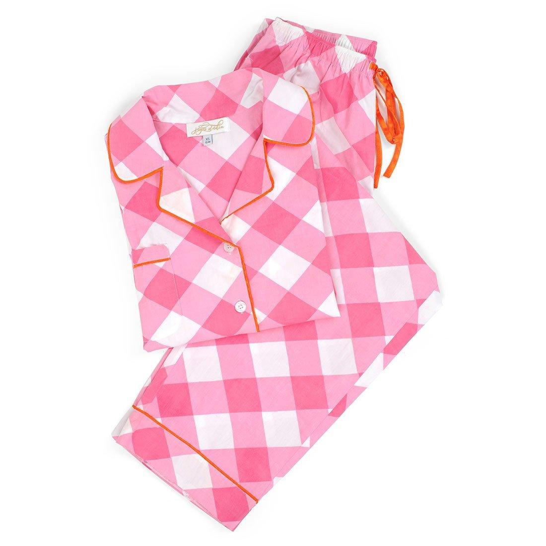 Monogram Pink Buffalo Check Pajama set