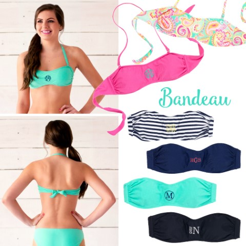 Monogram Bandeau tie in the back