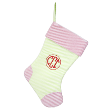 Monogram Seersucker Stocking
