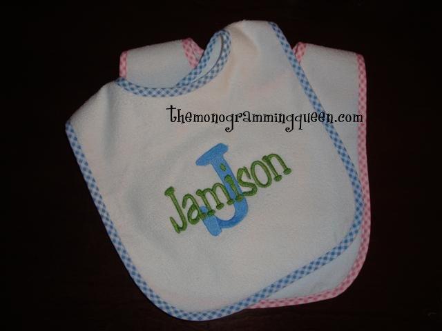 Monogram Baby Bib