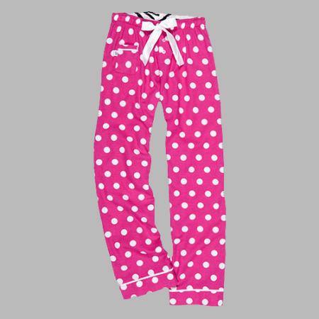 Monogram Hot Pink Dot Pajama lounge pants