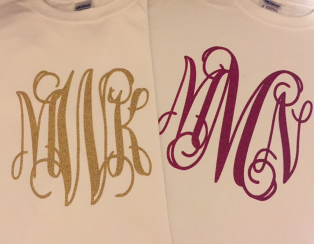 Big Glitter Monogram Tee Shirt