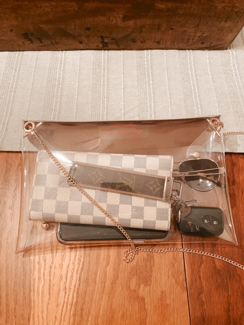 Repurposed Authentic Louis Vuitton Clear Stadium Clutch