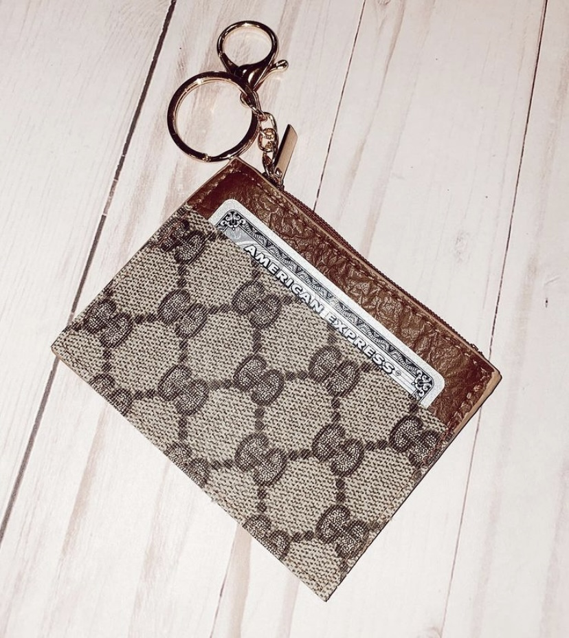 Authentic Repurposed Gucci Wallet keychain