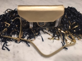 Gold Clear Crossbody bag