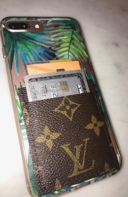 Repurposed Authentic Louis Vuitton Phone wallet