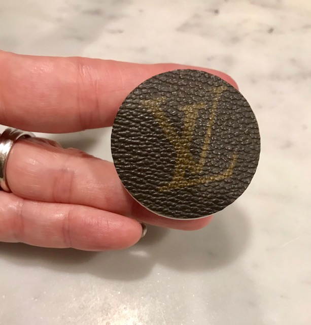 Repurposed Authentic Louis Vuitton Phone gripper