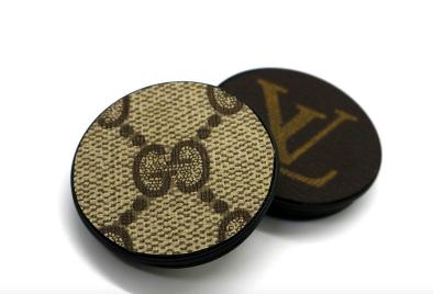 Repurposed Authentic Louis Vuitton Phone gripper