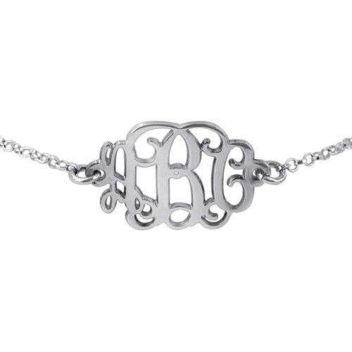 Monogram Silver Bracelet