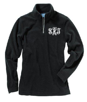 Monogram Womens Fleece 1/4 zip pullover