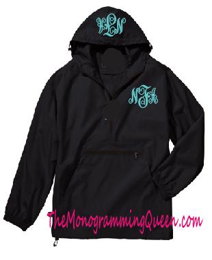 Monogram 1/4 zip windbreaker jacket