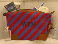 Preppy Monogram Dopp Mens stripe Bag