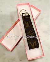 Repurposed Louis Vuitton wristlet Keychain