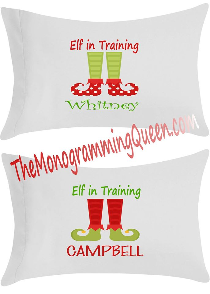 Personalized Elf in Training Pillowcase