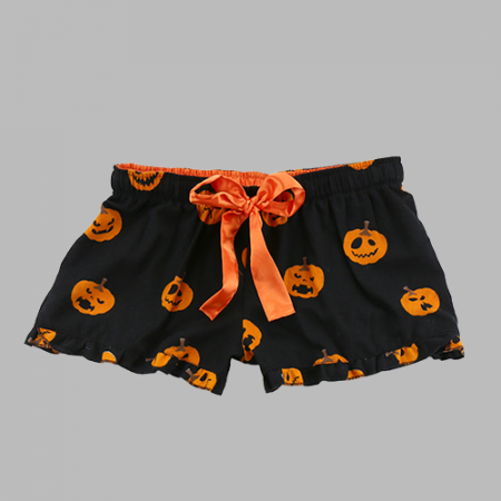 Monogram Pumpkin Flannel Boxer shorts lounge shorts