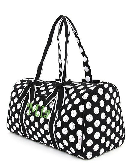 Polka Dot Overnight Duffle Bag-