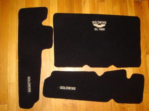 Embroidered Honda GoldWing GL1800 Trunk & Saddlebag Mat Set