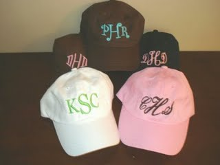 Youth Monogrammed Baseball Hats-