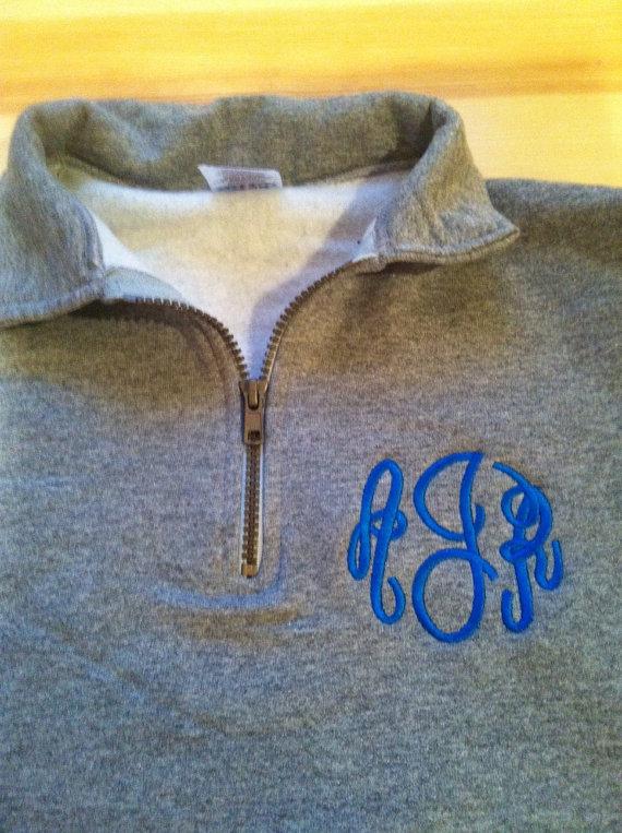 Monogram  1/4 zip Sweatshirt