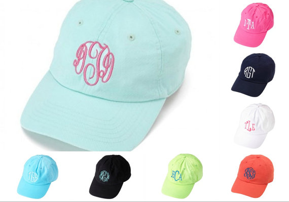 monogram baseball hat ladies monogrammed caps wool cap patch