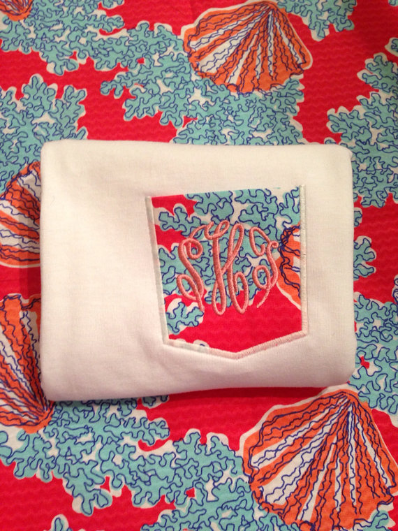 Lilly Pulitzer Coralina Watermelon Pocket Tee-