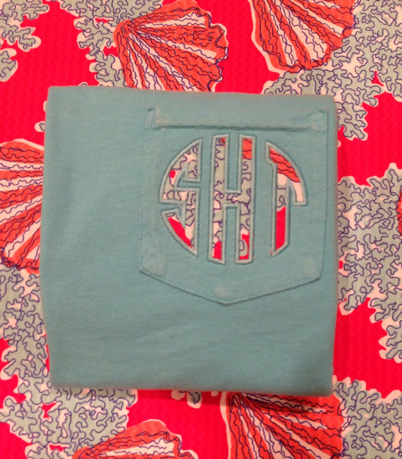 Lilly Pulitzer Applique Pocket Tee Coralina Watermelon-