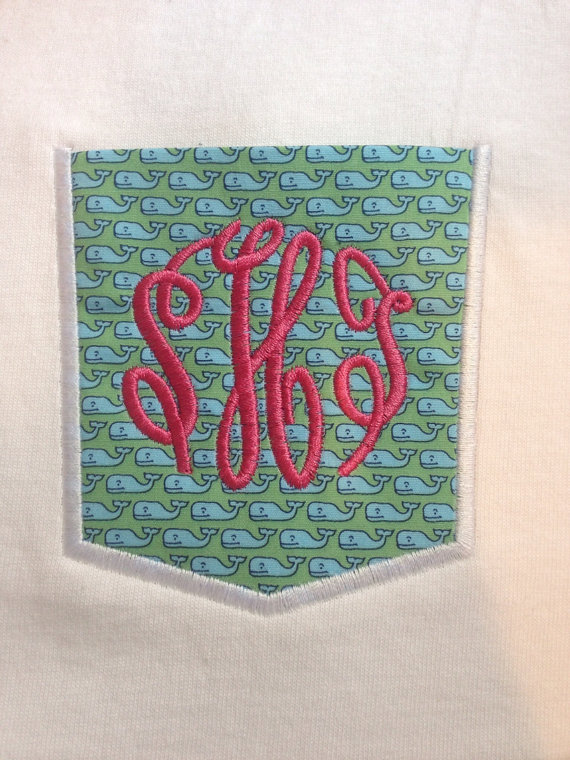 Vineyard Vines Monogram Fabric pocket tee-
