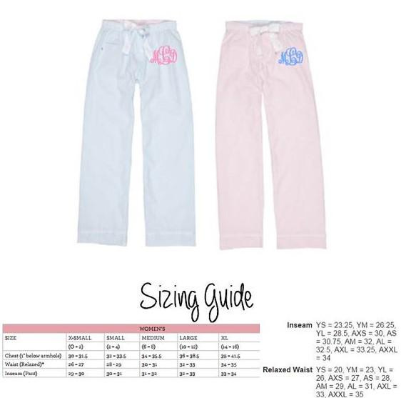 Monogram Seersucker Lounge Pants Pajama Pants