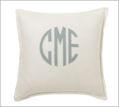 Monogram 20 x 20 Pillow with Feather Insert