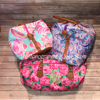 Monogram Inspired Lilly Pulitzer travel weekend bag
