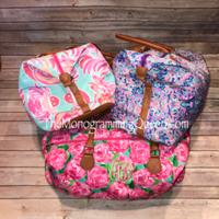 Monogram Inspired Lilly Pulitzer travel weekend bag