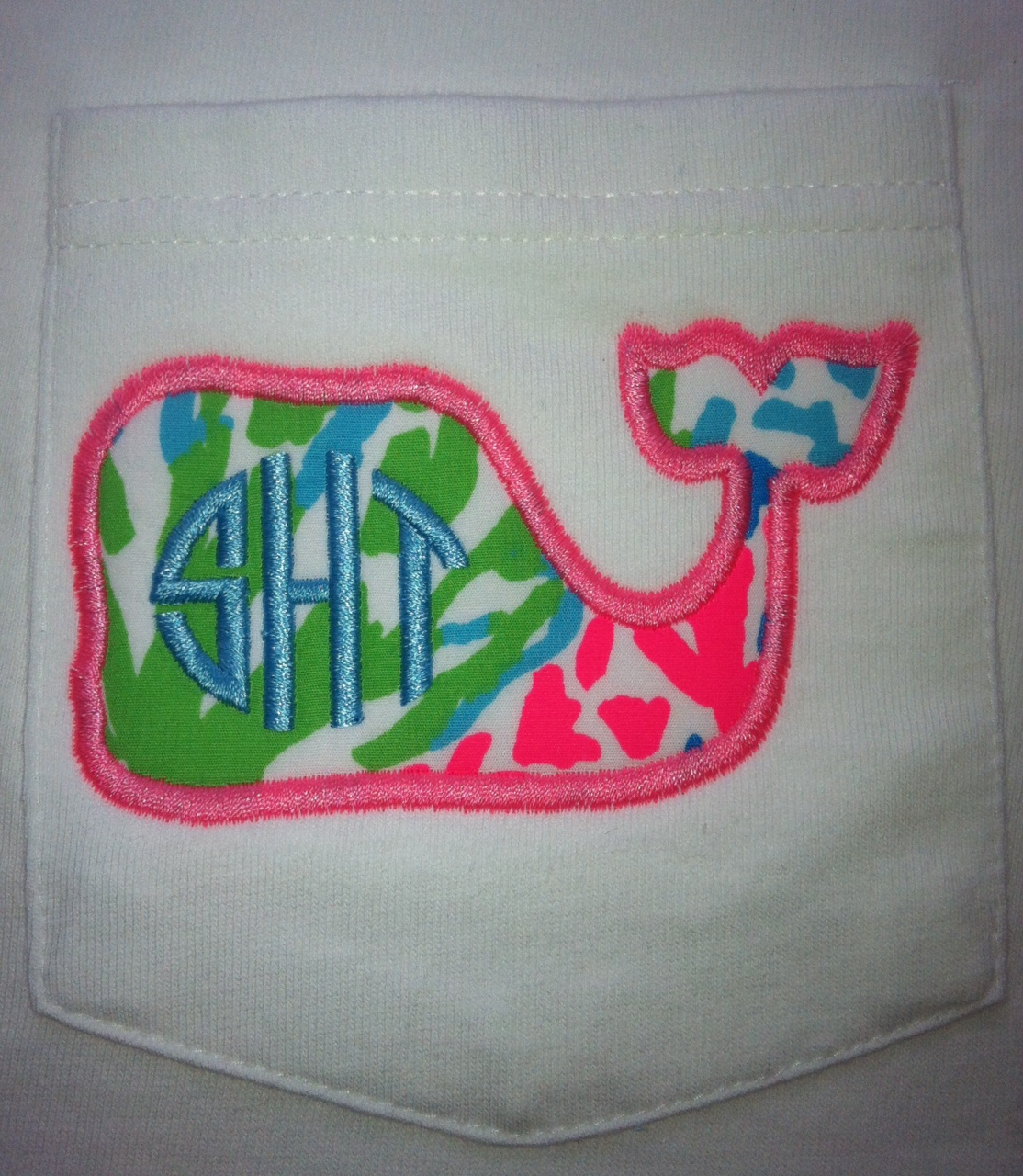 Lilly Pulitzer Monogram Whale Tee Short Sleeve or Long Sleeve-