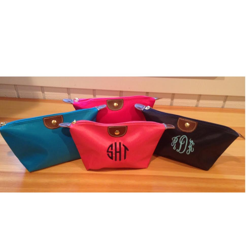 Monogram cosmetic or pencil case