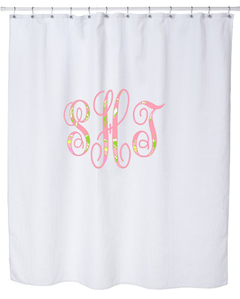 Monogram Lilly Pulitzer Shower Curtain