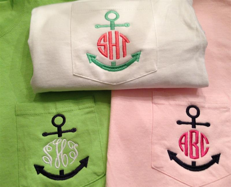 Anchor Monogram Pocket TEE