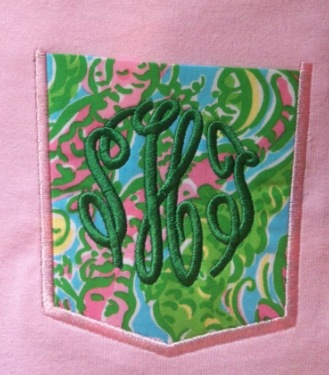 Lilly Pulitzer Monogram Chomp Chomp Pocket Tee