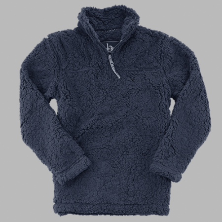 Chi Rho Sherpa 1/4 zip New Solid Navy or Frosted Navy
