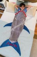 Personalized or Monogram Shark Blanket Tail Blanket