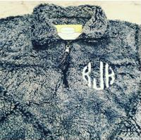 Monogram Sherpa 1/4 pullover super super soft