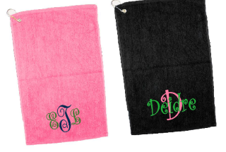 Monogram Tennis Golf Gormmet Towel