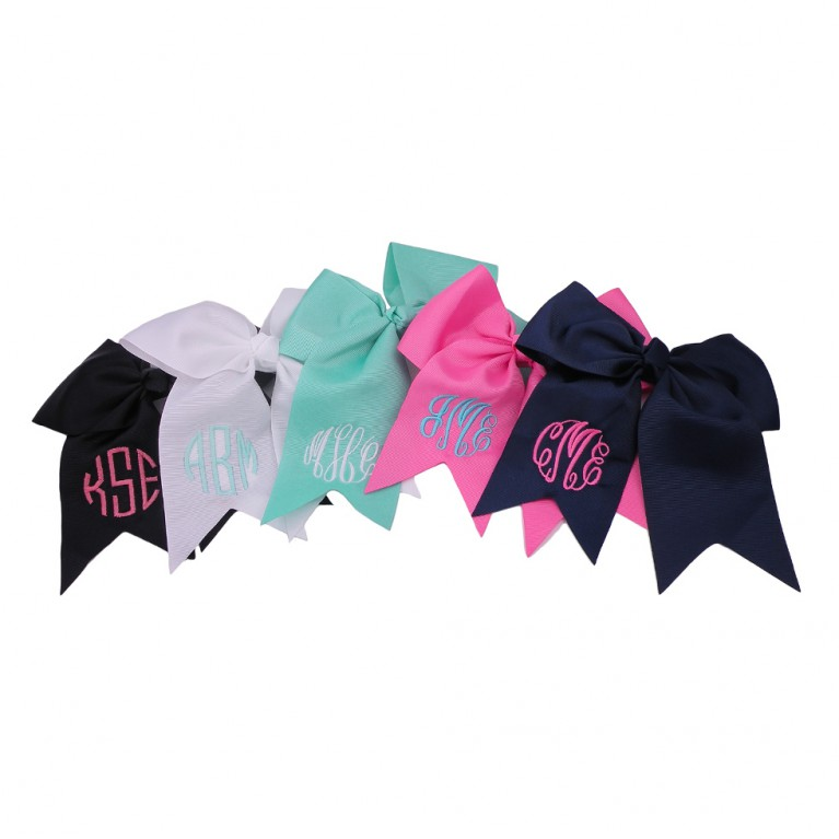 Monogram Hair Bow Cheer Bow